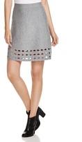 Elie Tahari Posey Merino Wool Mini Skirt