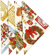"Cloth Napkins 20"" x 20"" Christmas Dinner Napkins Linen Napkins Table Linens Set of 4 Santa"
