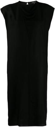 Ann Demeulemeester layered v-neck midi dress