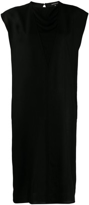 Ann Demeulemeester Layered V-Neck Midi Dress