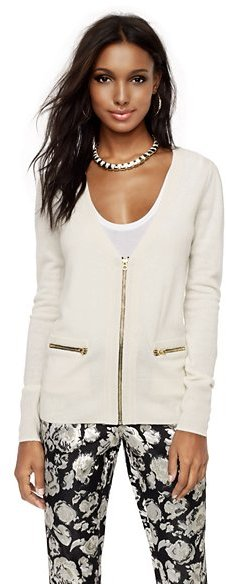 Glam Rock Wool-Cashmere Zip Cardigan