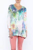 Katina Marie Watercolor Tunic Top
