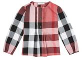 Burberry Check Pleated Top