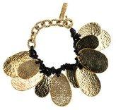 Saint Laurent Textured Oval Charm Bracelet