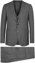 Armani Collezioni M-line Grey Three-piece Wool Suit