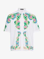 Versace Miami Print Cotton Shirt