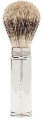 Brunello Cucinelli Travel Shaving Brush - Silver