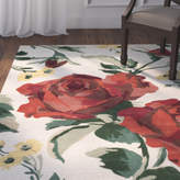 Martha Stewart Rose Chintz Hand-Loomed Shortbread Area Rug