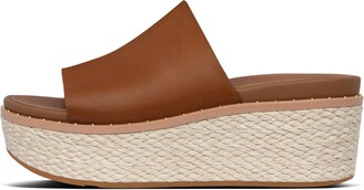 FitFlop Eloise Espadrille Leather Wedge Slides