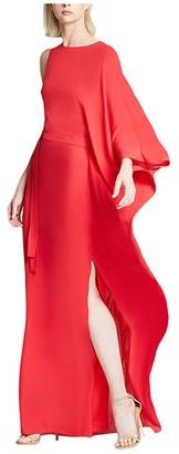 Halston Asymmetric Kaftan (Summer Red) Women's Clothing
