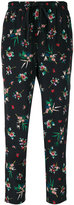 RED Valentino floral trousers - women - Silk/Polyester - 40