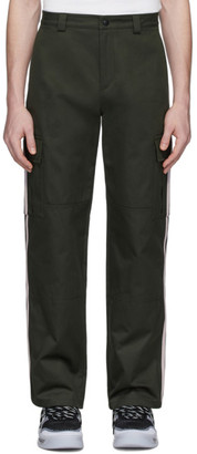 Valentino Green Side Stripe Cargo Pants
