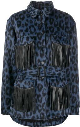Andamane Vita fringed leopard print jacket