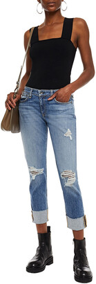 Rag & Bone Dre Distressed Slim Boyfriend Jeans