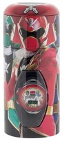 Power Rangers Boy's Watch with Cylinder Tin Coin Bank - Multicolor