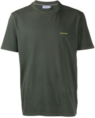 Calvin Klein embroidered logo T-shirt