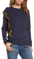 Halogen Petite Women's Asymmetrical Ruffle Sweater