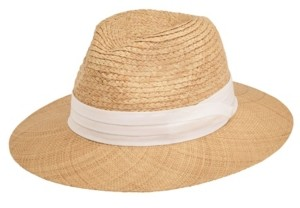 San Diego Hat Company San Diego Hat Men's Raffia Braid with Bao Straw Brim Fold Band Fedora
