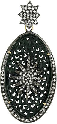 Artisan Jewelry Artisan 18K & Silver 15.28 Ct. Tw. Diamond & Jade Pendant