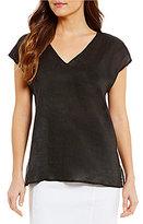 Antonio Melani Wilson Linen Shirting V-Neck Top