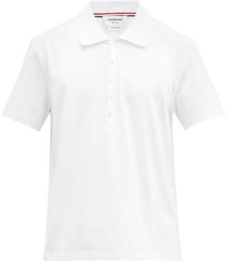 Thom Browne Four-bar Cotton-pique Polo Shirt - White