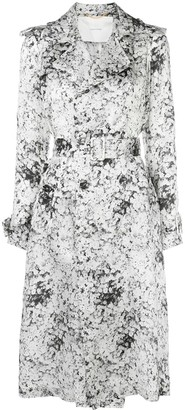 Adam Lippes Abstract Print Trench Coat