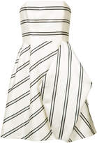 Halston striped party dress