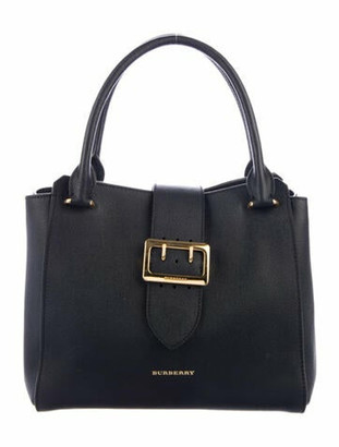 Burberry Large Buckle Tote Black
