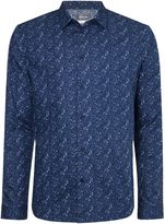 Linea Men's Floral Print Long Sleeve Shirt