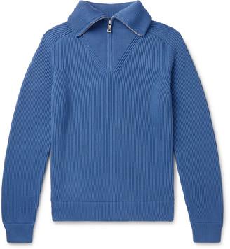 Mr P. Ribbed Cotton Half-Zip Sweater