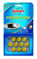 Glisten DPLM12T Disposer Care Disposer and Drain Freshener-0.81 Fluid Ounces-Lemon Scented Disposal Odor Remover