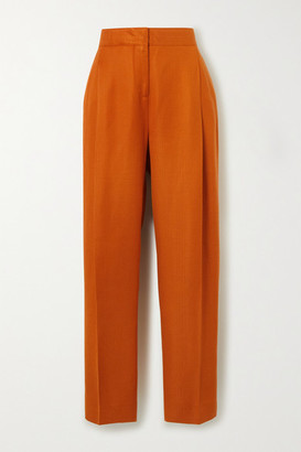 Victoria Victoria Beckham Grain De Poudre Tapered Pants - Orange