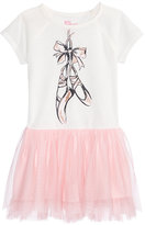 Epic Threads Ballet Shoes Graphic Tutu Dress, Toddler Girls (2T-5T), Created for Macy's