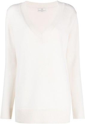 Co V-neck cashmere-wool jumper
