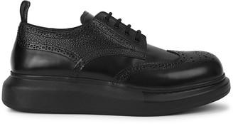 Alexander McQueen Hybrid Black Leather Derby Shoe