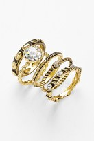 Ariella Collection Cocktail Stack Ring Set - Set of 5