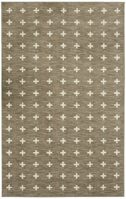 Mohawk Sahana Scandinavian Cross Rug, Gray, 7'6x10'