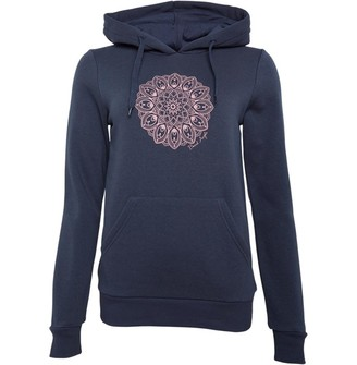 Board Angels Womens Placement Print Hoodie Slate Grey