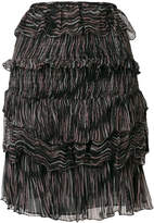 IRO Canwood printed tiered skirt