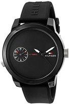 Tommy Hilfiger Men's 'Denim' Quartz Plastic and Rubber Casual Watch, Color:Black (Model: 1791326)