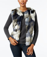INC International Concepts Patchwork Faux-Fur Vest, Only at Macy's