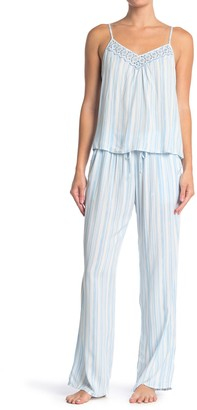 Jonquil Striped Camisole & Pants 2-Piece Pajama Set