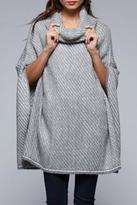 Love Stitch Lovestitch Textured Tone Poncho