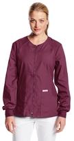 Cherokee Women's Scrubs Flexibles Zip-Front Warm-Up Jacket