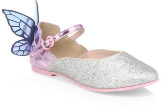 Sophia Webster Little Girl's & Girl's Chiara Butterfly Heel Flats