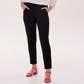 Jacqueline De Yong Slim Fit Trousers with Elasticated Waist