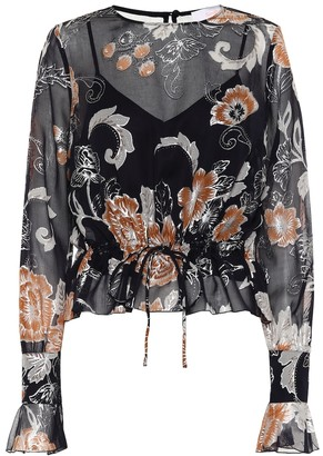 See by Chloe Printed silk and cotton blouse