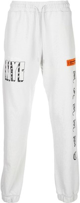 Heron Preston Embroidered Letters Track Pants