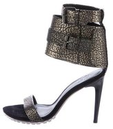 Tibi Metallic Ankle-Strap Sandals