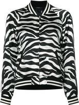 R 13 zebra print bomber jacket - women - Silk/Viscose - M